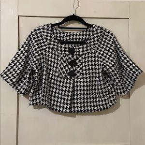 Jackets & Blazers - Houndstooth pea coat